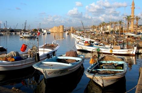Historic fishing village in Lebanon