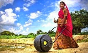 """A WaterWheel user in India""  http://wellowater.org/"
