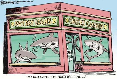 Cartoon - Shark Infested Waters